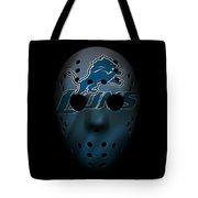 Detroit Lions War Mask 2 Tote Bag