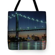 Detroit Riverside Sparkle Tote Bag