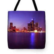 Detroit Skyline 2 Tote Bag