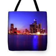 Detroit Skyline 3 Tote Bag