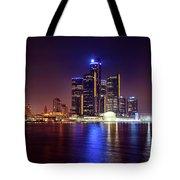 Detroit Skyline 4 Tote Bag