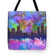 Detroit Skyline Watercolor 1 Tote Bag