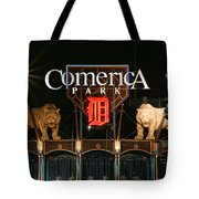 Detroit Tigers - Comerica Park Tote Bag by Gordon Dean II