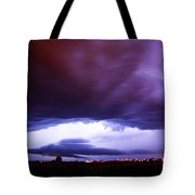 Developing Nebraska Night Shelf Cloud 001 Tote Bag
