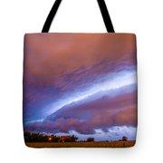 Developing Nebraska Night Shelf Cloud 006 Tote Bag