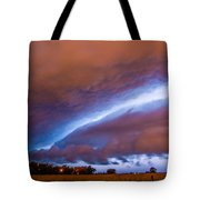 Developing Nebraska Night Shelf Cloud 007 Tote Bag