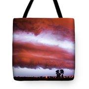 Developing Nebraska Night Shelf Cloud 009 Tote Bag