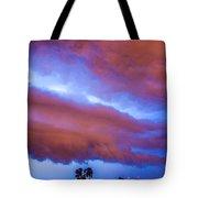 Developing Nebraska Night Shelf Cloud 012 Tote Bag