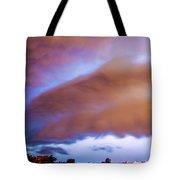 Developing Nebraska Night Shelf Cloud 013 Tote Bag