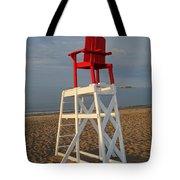 Devereux Beach Lifeguard Chair Marblehead Ma Tote Bag