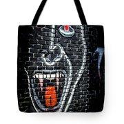 Devil Face Graffiti Tote Bag