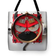 Devil Monkey Bot Tote Bag by Jen Hardwick