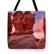 Devils Garden Pink Sunset Tote Bag