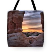 Devils Garden Sunset Tote Bag