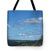 Devils Tower And The Missouri Hills Tote Bag