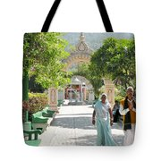 Devotees In Rishikesh India Tote Bag