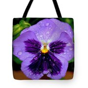 Dew Drop Butterfly Tote Bag