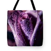 Dew Drops And Purple Rose Tote Bag