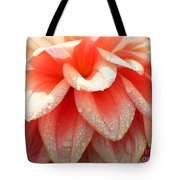 Dew -drops On The Dahlia 2  Tote Bag