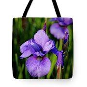 Dew Kissed Iris Tote Bag