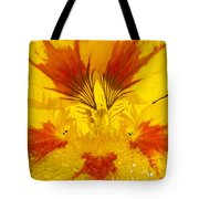 Dew On Nasturtium Tote Bag