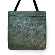 Dew On The Web Tote Bag