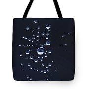 Dewdrops On The Cobweb Tote Bag