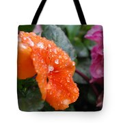 Dewy Pansy 2 - Side View Tote Bag