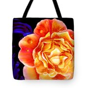 Dewy Peach Rose Tote Bag