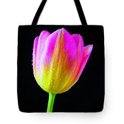 Dewy Pink Yellow Tulip Tote Bag