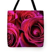 Dewy Rose Bouquet Tote Bag