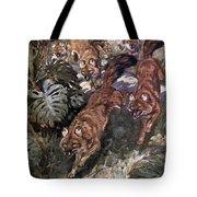 Dhole, Endangered Species Tote Bag