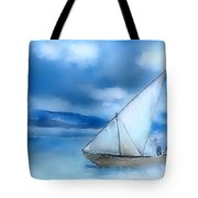 Dhow Fishing Vessel Tote Bag