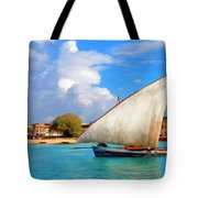 Dhow Off Zanzibar Tote Bag