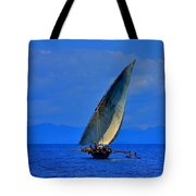 Dhow On The Indian Ocean 2 Tote Bag
