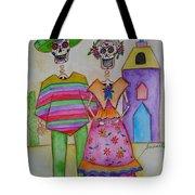Dia De Los Muertos Mexican Couple Diego And Frida Tote Bag