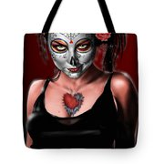 Dia De Los Muertos The Vapors Tote Bag by Pete Tapang