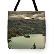 Diablo Lake - Le Grand Seigneur Of North Cascades National Park Wa Usa Tote Bag