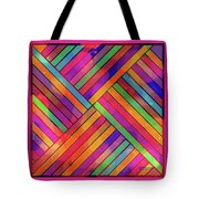 Diagonal Offset Tote Bag
