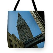 Diagonal View Of Pedestrian Bridge Tote Bag