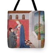 Dialogue Between Boethius And Philosophy Tote Bag
