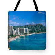 Diamond Head And Waikiki Tote Bag by William Waterfall - Printscapes