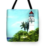 Diamond Head Lighthouse #10 Tote Bag