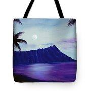 Diamond Head Moon Waikiki #34 Tote Bag