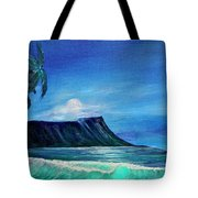 Diamond Head Moonscape #371 Tote Bag