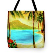Diamond Head Waikiki Beach #127 Tote Bag