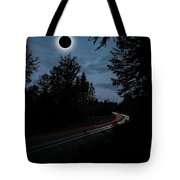 Diamond Ring Solar Eclips Over Route 66 By Adam Asar 3 Tote Bag