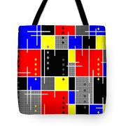 Diamonds And De Stijl Tote Bag by Tara Hutton