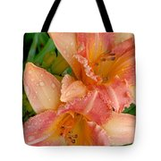 Diamonds And Lilies Tote Bag