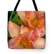 Diamonds And Lilies Watercolor Tote Bag